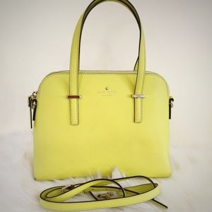 Kate Spade Maise Crossbody Purse Yellow Handbag